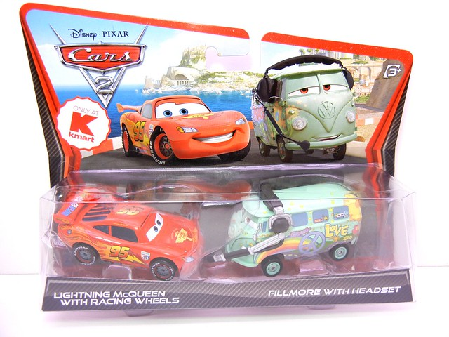 DISNEY CARS 2 KMART EXCLUSIVE CREW CHIEF 2 PACK FILLMORE WITH HEADPHONES (1)