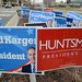 signs at the bus depot - New Hampshire Primary