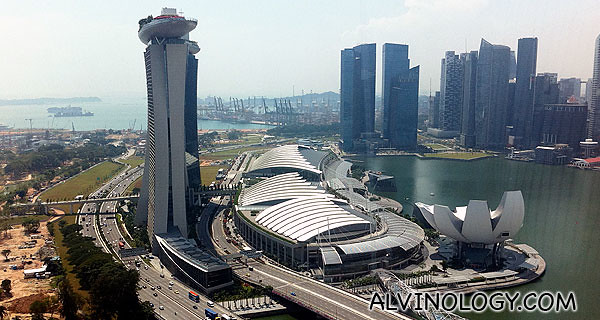 View of Marina Bay Sands
