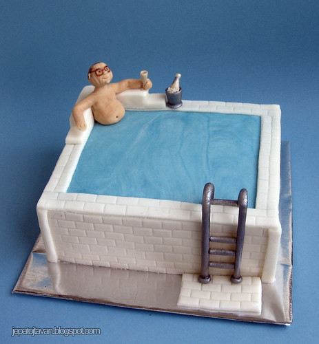 Swimming pool cake by Cakes by Pixie Pie