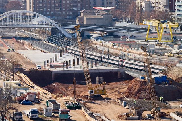 Vista de la zona de la futuras estación de La Sagrera - Detalle - 30-01-12