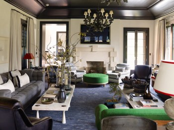 steven gambrel green living room