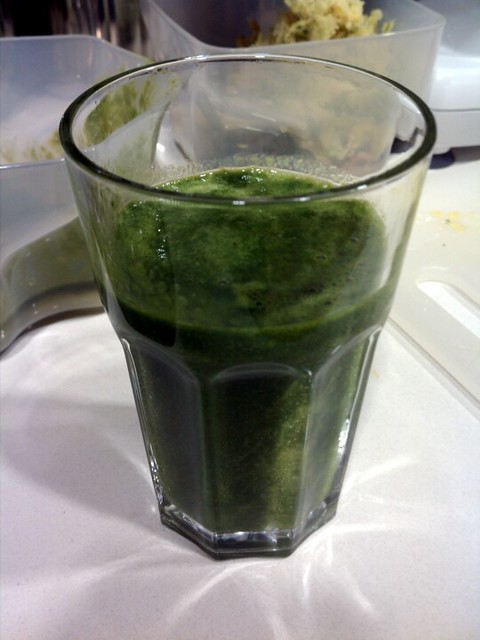 Chard, orange, mango juice.