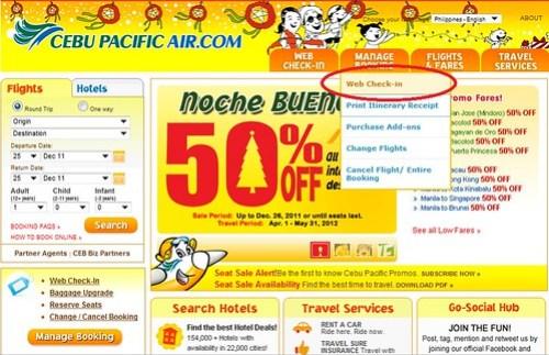 Cebu Pacific Web Check-In