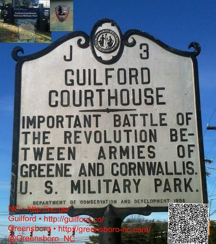 GUILFORD COURTHOUSE - IMPORTANT BATTLE OF THE REVOLUTION BE-TWEEN ARMIES OF GREENE AND CORNWALLIS . U. S. MILITARY PARK. by Greensboro NC