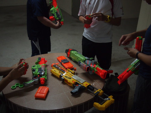 Loading ammo, Nerf War, Singapore