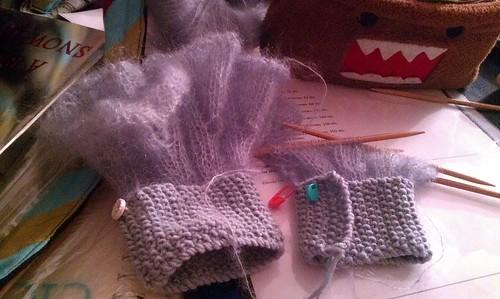 Madeline's cuffs- progress on cuff two. by Miss Knotty