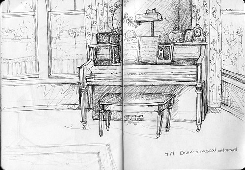 Sketchbook Project/EDM #17 Draw a musical instrument