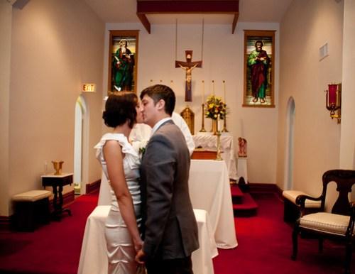 ..you may kiss the bride..
