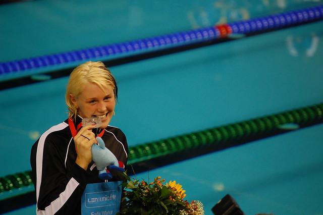 Jeannette Ottesen with her 2008 Rijeka 50 butterfly silver