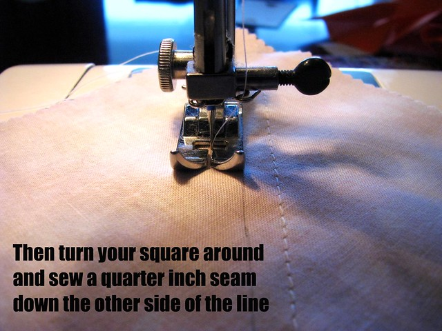 Half Square Triangle Tutorial: Turn and Sew