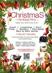 LUXURYCOMETRUE Christmas Handbags Party 17 Dec  2011