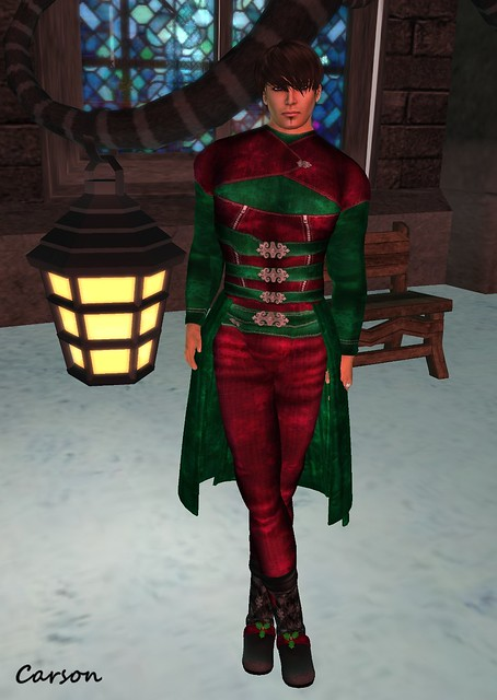 Lyrieal's -  Cranberry & Pine Gothic Christmas Outfit