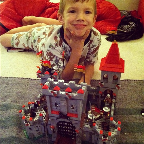 Spent most of the day helping Liam put together his new Lego castle.