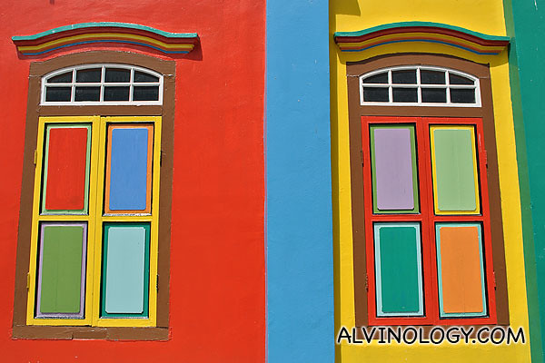 Brightly coloured windows