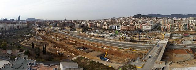 Panorámica zona futura estación de La Sagrera - 8-02-12