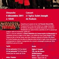 Concert d'ouverture des Joséphonies 2011-12 avec le Choeur Maitrisien du Conservatoire de Wasquehal,