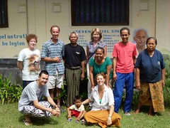 With Ashram Guests from Holland