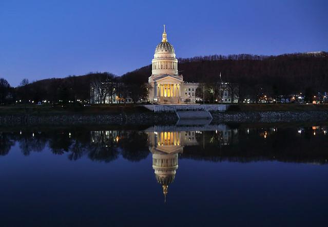 West Virginia's State Capitol in Charleston, West Virginia, on December 11, 2011