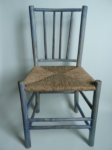 Painted spindleback chair