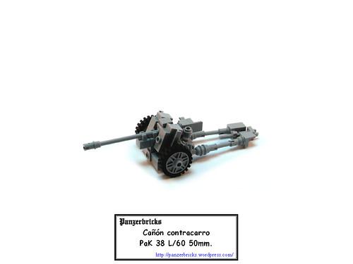 Panzerabwehrkanone 50mm. PaK 38 de Panzerbricks