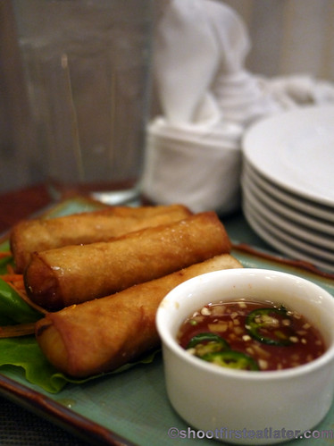 Vietnamese crab & shrimp spring rolls