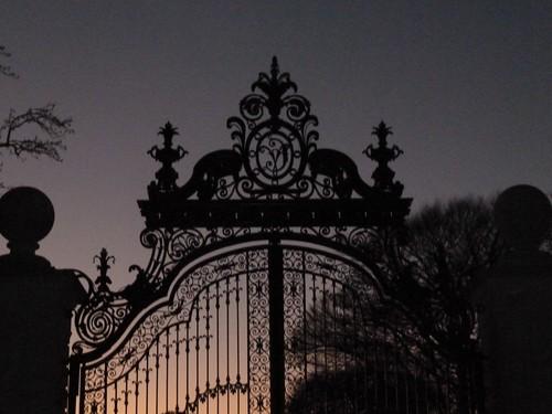 Entrance Gate at Dusk