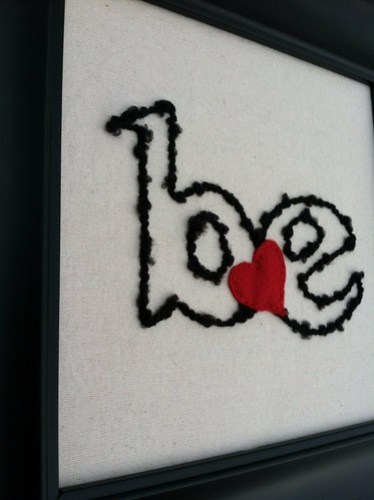 be love couched embroidery