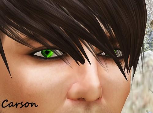 X LINE EYES - Green Heart Eyes