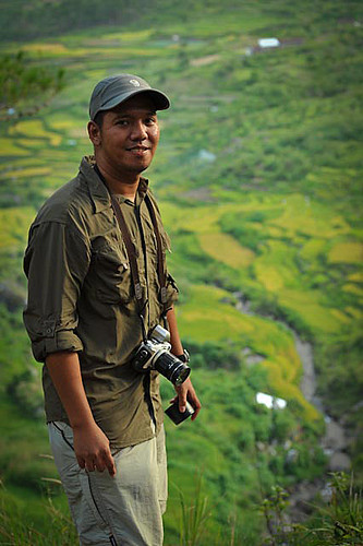Ferdinand Decena in one of his photography workshop at the Banawe Rice Terraces