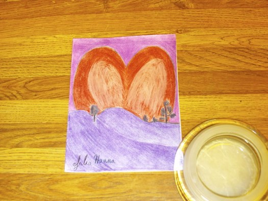 My Valentine Sunset Card