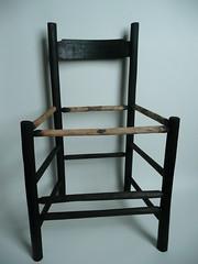 Black pickled oak chair
