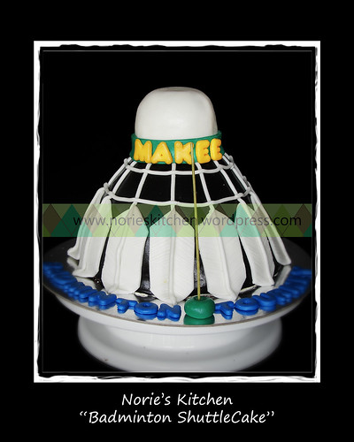 Norie's Kitchen - Badminton Shuttlecock Cake by Norie's Kitchen