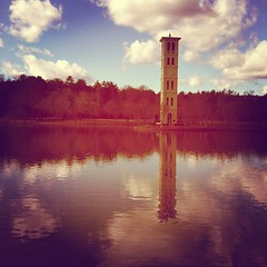 On the campus at Furman