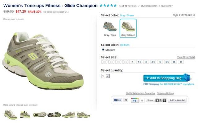 SKECHERS Tone-Ups Fitness多功能訓練鞋。