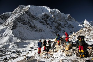 Porters on the way to Larkya La
