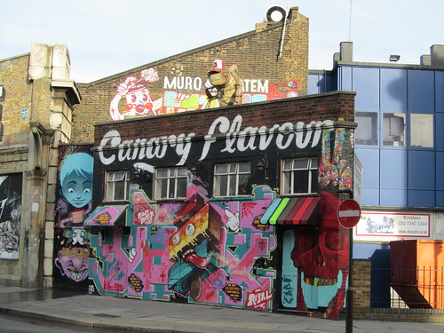 Street Art & Graffiti in Shoreditch - Muro Matem, Inkfetish & Ronzo
