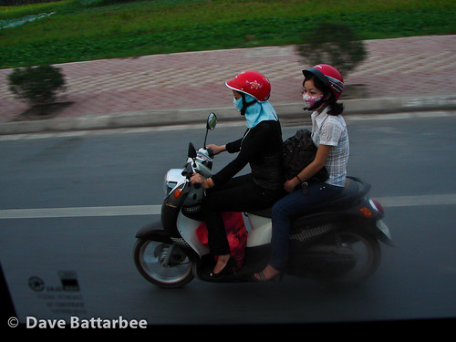 Two Girls on a Scooter