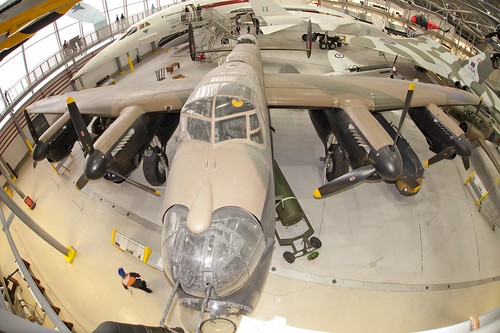Lancaster Bomber fish-eye shot