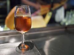 A glass of amontillado. Esquina Tapas Bar, Jiak Chuan, Keong Saik, Tanjong Pagar