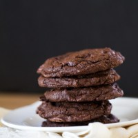Fudgy Triple Chocolate Bliss Cookies