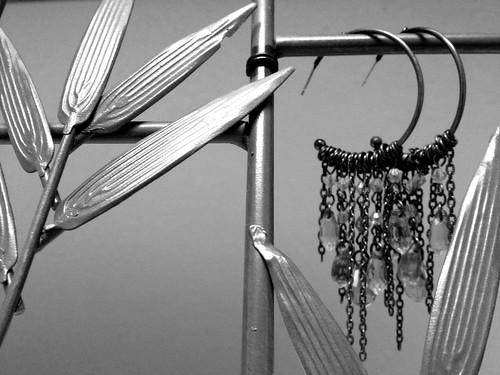 Glam rock earrings.