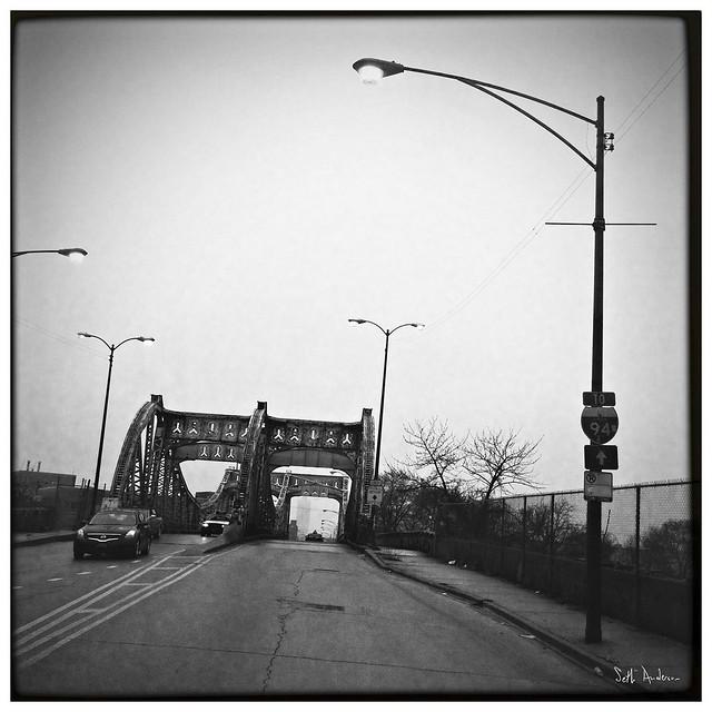 Division Street Bridge in the Rain