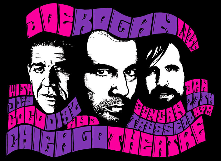 Joe Rogan Live Chicago Theatre with Joey Coco Diaz and Duncan Trussell