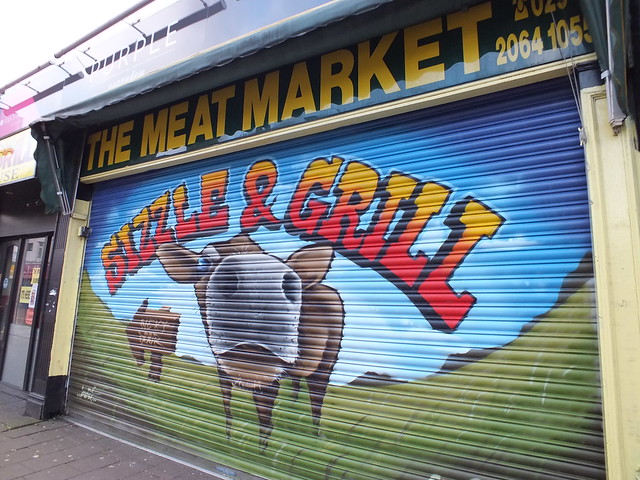 Commercial street art-Sizzle and Grill