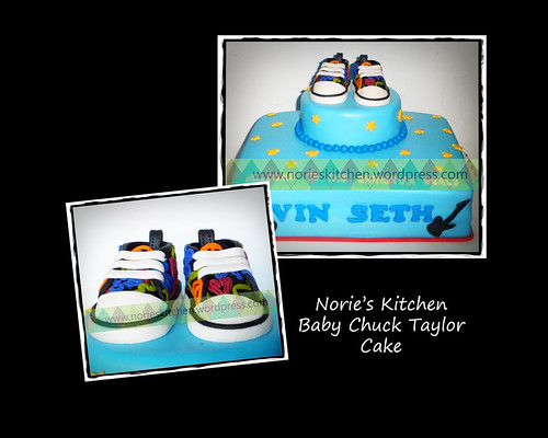 Norie's Kitchen - Baby Chuck Taylor Cake by Norie's Kitchen