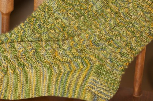 Corn on the Cob socks, detail