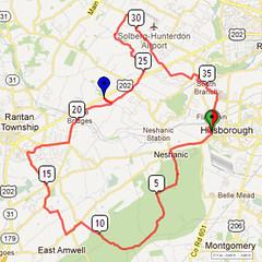 13. Bike Route Map. Somerset Valley YMCA, Hillsborough, NJ