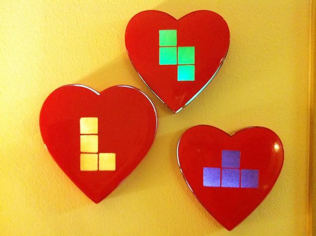 Tetris valentine's candy light boxes