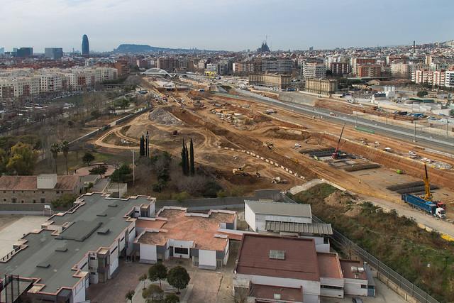 Zona futura estación de La Sagrera - 8-02-12